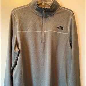North Face Pullover Jacket, Men's, Grey, M
